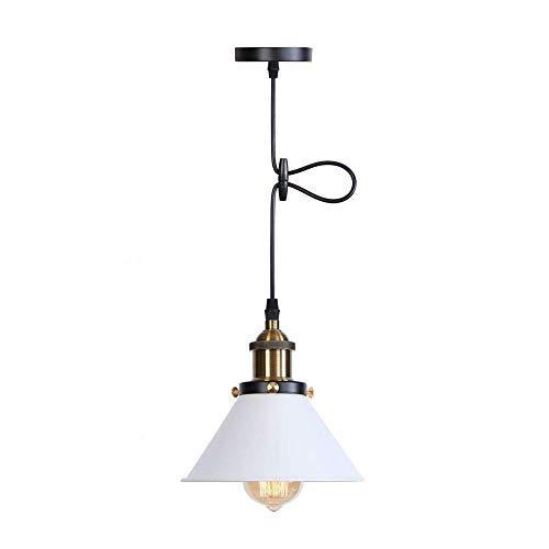 Mooie lampen/hanglamp, retro-stijl, voor keuken, restaurant, industrie, E27-stijl, metaal, om de lampenkap op te hangen.