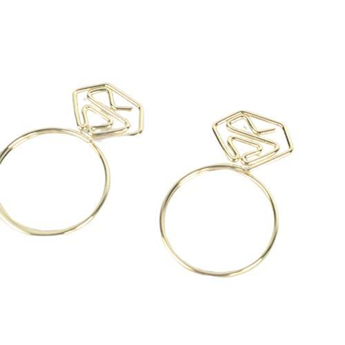 TOYANDONA 10 stücke Metall Büroklammern Diamant Kreative Büroklammer Beschichtung Hinweis Clips Foto Clips Lesezeichen Clips für Home Office (Golden)