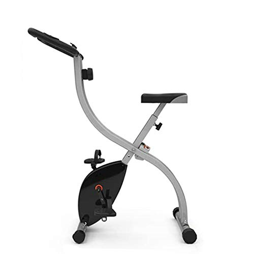 XIUQI Bicicleta Estática Plegable,Moderna Pantalla LED De Pilas, Bicicleta Fitness con 8 Niveles De Resistencia, Inicio Entrenador De Ciclismo para Interiores Equipo De Fitness