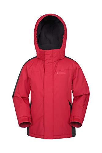 Mountain Warehouse Raptor Schneejacke für Kinder - Schneedichte & Warme Winterjacke, Skijacke, Kindermantel mit Fleecefutter & integrierter Schneerock Rot 2-3 Jahre
