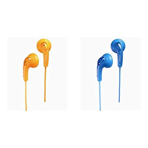 【セット買い】JVC HP-F140-D グミホン ステレオミニイヤホン オレンジ & JVC HP-F140-A グミホン ステレオミニイヤホン ブルー