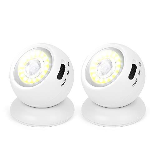 センサーライト 人感 LED電池式常夜灯 足元灯 モーション センサー付きナイトライト 三つモード マグネット式台座 廊下 玄関 階段 室内照明用 2個セット