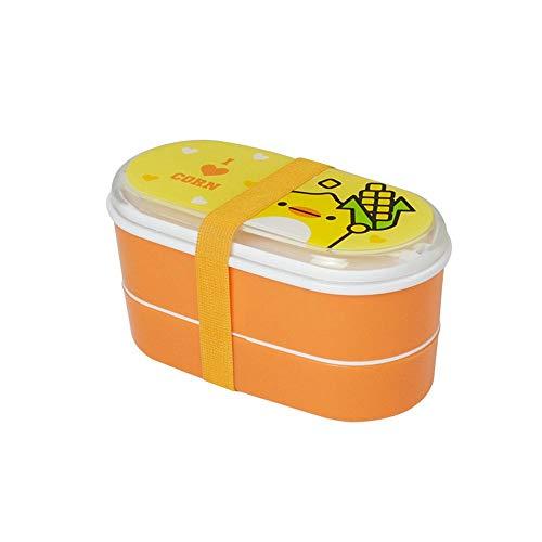 ZSLLO Boîte à Lunch en Plastique, boîte à Lunch de 600 ML, Vaisselle de Haute qualité Contenant des Aliments (Couleur : B)