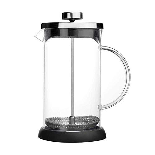 Montalatte Glass Milk Frother (Handheld), in Acciaio Inox Montalatte con brocca di Vetro, Latte Foamer con Maglia fine Sieve, caffè ugello con Finitura Rame WTZ012
