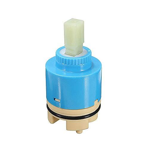 SUPERTOOL Cartucho de cerámica, 35 mm, repuesto de válvula de grifo duradero para lavabo de cocina y grifo de baño (1 unidad)