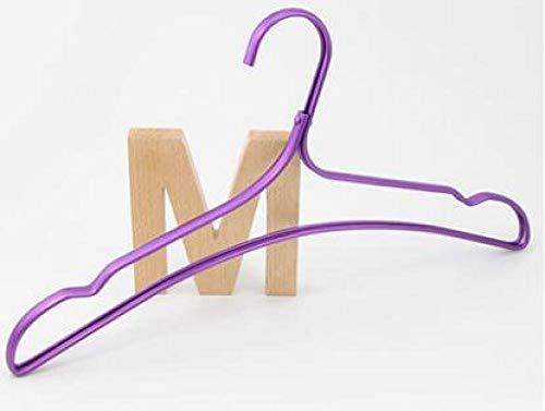 zhaoyangeng 5 Stks 43Cm Krachtige En Duurzame Aluminium Kleding Rack Antiskid Kleding Hanger Kan Garantie De Ondersteuning Van Kleding@Paars