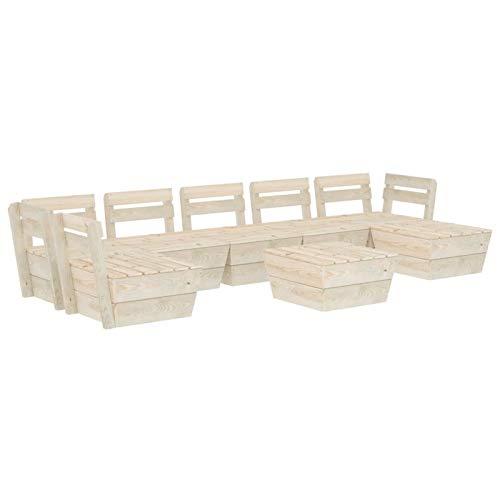 Tidyard Muebles de palets para jardín Sofá de palés para jardín 10# 8 pzas Madera de Abeto impregnada