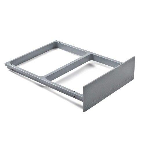 Hailo 1094099 Clipsrahmen grau Rondo und Raumspar-Tandem Abfallsammler, Plastik, 46.3 x 33.6 x 10.8 cm