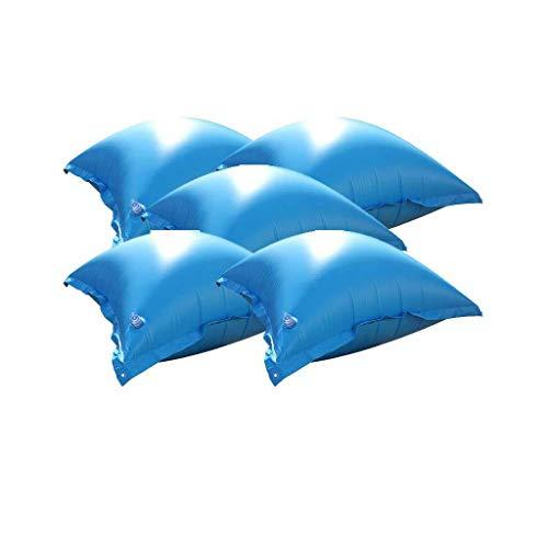 well2wellness Coussins gonflables / Coussins flotteurs d'hivernage pour piscine - 5 coussins TOP avec valve transparente