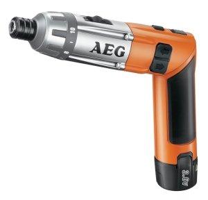 AEG SE Destornillador de línea inalámbrico, 3,6 V, batería de ion de litio, incluye cargador, estuche de transporte y 2 baterías de 1,5 A (Li-ion)