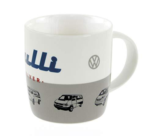 BRISA VW Collection - Volkswagen Bulli Bus T1, T2, T3, T4, T5 Kaffee-Tee-Tasse-Becher für Küche, Werkstatt, Büro - Camping-Zubehör/Geschenk-Idee/Souvenir (Motiv: Bulli)