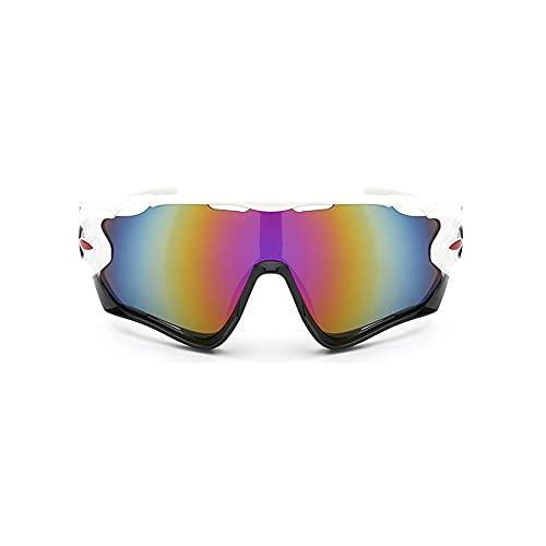 Gafas de sol, gafas de sol ciclismo Gafas de sol a prueba de explosiones Hombres y mujeres Gafas de sol deportes al aire libre Gafas de sol a prueba de viento - Blanco y negro Equitación al aire libre