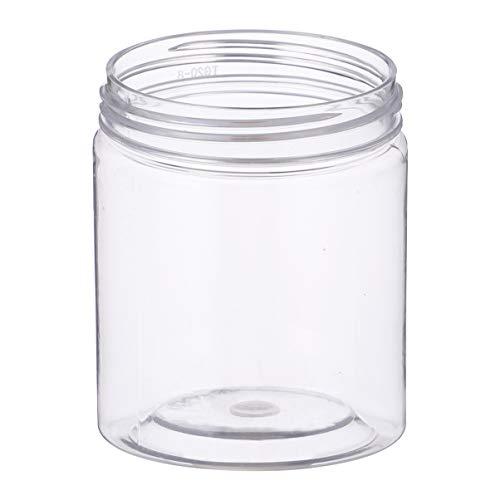 DOITOOL 10 Barattoli in Plastica Trasparente Contenitori per Slime Barattoli Cucina, Barattoli Spezie Piccoli, Contenitori Vuoti con Coperchio per Servire Caramelle, Biscotti, Fagioli(8 x 6,5 cm)