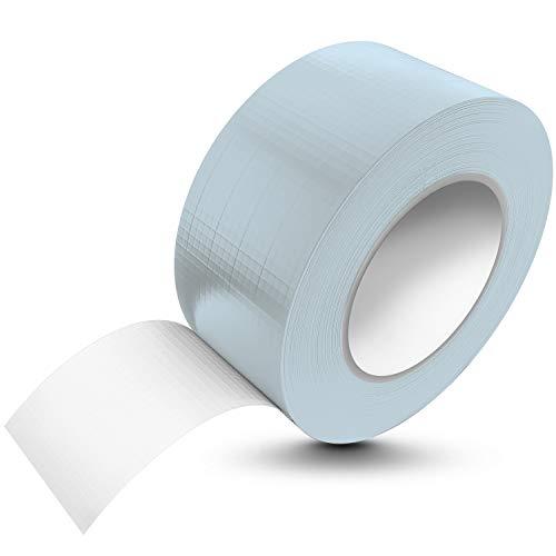 Tape-King [50m x 48mm] Panzertape silber wasserfest, extreme Klebkraft I Korrigierbares Panzerband handreißbar I Gewebeband, Gaffa Tape, Duct Tape