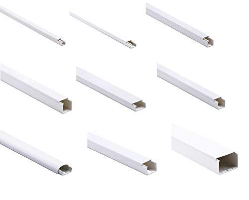 KOMIB Kabelkanal/Kabelkanäle - Verschiedene Größe - Weiß/Reinweiß (RAL 9010) - Je Stange 2M (10m, 10 x 10)