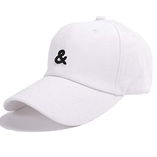 DELLA Baseball Cap Men Snapback Embroidered Baseball Cap Cotton Caps for Men Women Outdoor Sun Hats-White
