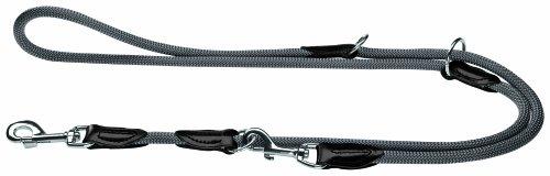 HUNTER Freestyle Verstellbare Führleine für Hunde, robust, wetterfest, 1,0/200 cm, grau
