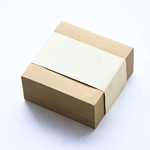Selbstklebende Pads Kraftpapier Haftnotiz-Würfelpaket 3,9