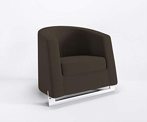Marbet Style Ruhe Noble C Fauteuil de club Fauteuil relax salon pas rembourrage microfibre Tokyo - TK6 - Brun Noir