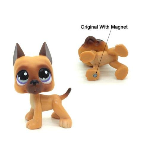 Littlest Pet Shop Toys LPS #244 Brown Great Dane Dog