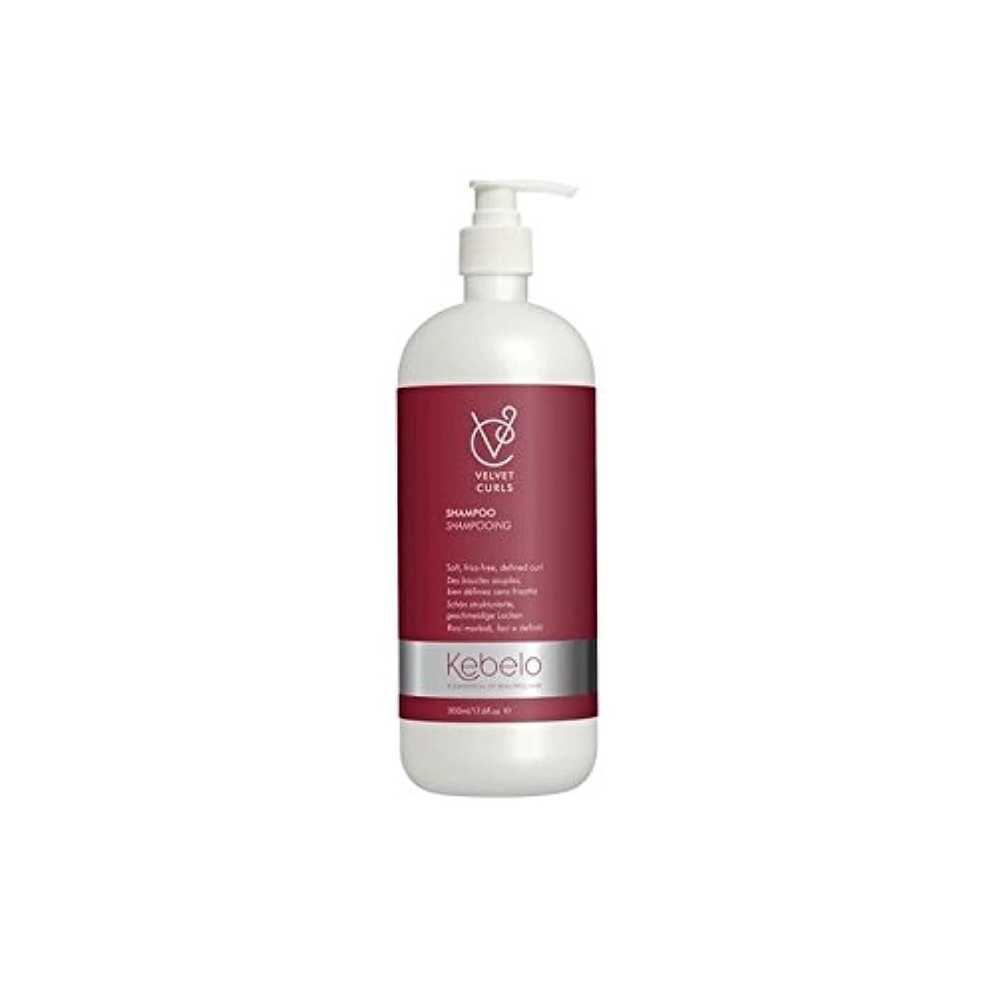 回転するかんがい戦争ベルベットのカールシャンプー(500ミリリットル) x4 - Kebelo Velvet Curls Shampoo (500ml) (Pack of 4) [並行輸入品]