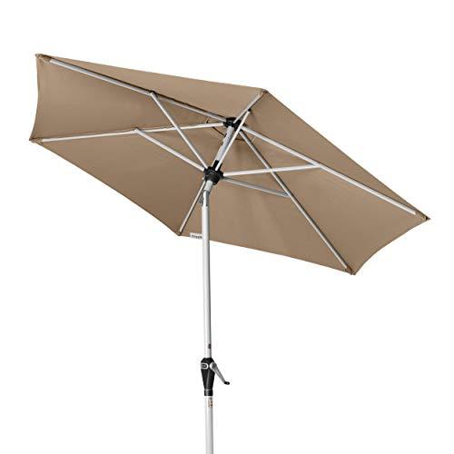 Doppler Active Auto Tilt 210 - Kurbel Sonnenschirm - Ideal für den Balkon - Mit einfacher Höhenverstellung - ca. 210 cm - Greige