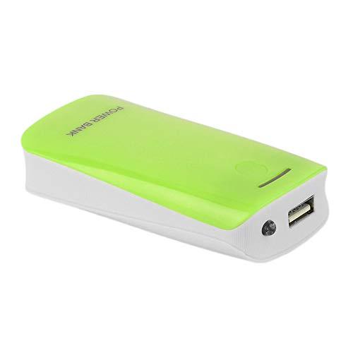 Creative Design 5600mAh USB Charging Cargador de batería de Respaldo Externo portátil 2 * 18650 Carcasa del Banco de energía de la batería - Verde
