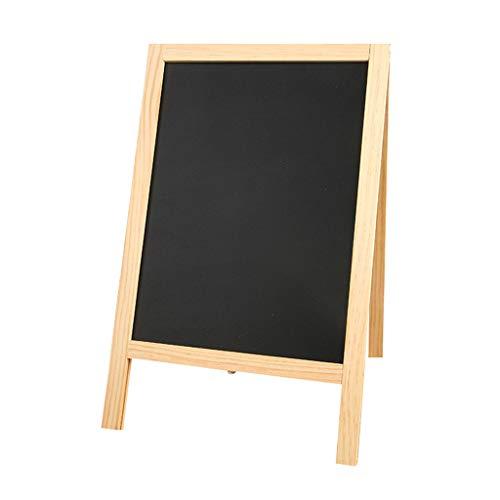 fine_fine Magnet Blackboard, Wood Art Easel Double-Sided Framed Chalkboard, Regular or Liquid Chalk Markers, Kitchen Countertop Sign, Tabletop Decorations (Black)