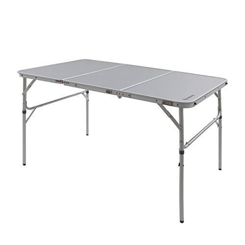 Kingcamp Tavolo pieghevole in 3, in alluminio leggero, robusto, per campeggio, picnic, giardino, feste
