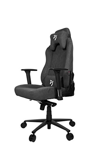 Arozzi Vernazza Soft Fabric Chair, Stoff, Dark Grey, Large