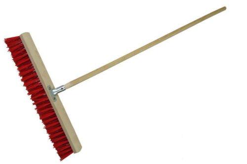 laguz Straßenbesen 60cm breit Besen Kehrbesen mit Metallstielhalter PVC mit Stiel
