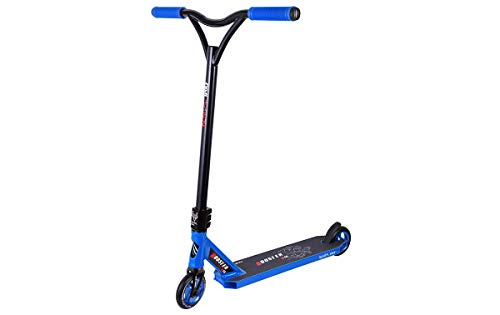 BESTIAL WOLF Booster B18, Scooter Pro, Manillar Negro y Tabla Color (Blue)