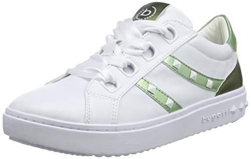 bugatti 431636045959, Zapatillas Mujer, Multicolor (White/Light Green 2072), 38 EU