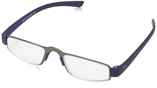 Sunoptic MR99C +1.50 Montana Eyewear Lesebrille in matt gunmetal+ blau - Stärke +1.50 Inklusive soft Etui, 1er Pack (1 x 1 Stück)