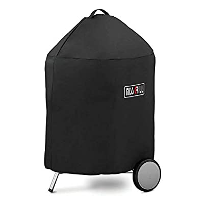 Miss Grill 7150 BBQ Cover for Weber 22 Inch Premium Kettle Charcoal Grills Heavy Duty Waterproof & Weather Resistant Barbeque Covers