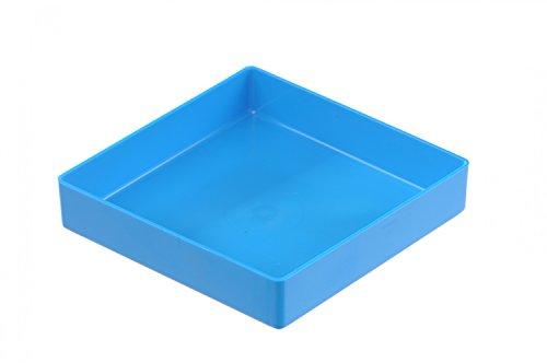 hünersdorff Insatslåda av högslagtålig polystyren (PS), mått: 108 x 108 x 23 mm, färg: blå