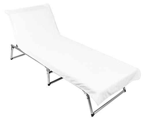 ZOLLNER Schonbezug Gartenliege, Baumwolle, 75x210 cm, weiß (weitere verfügbar)