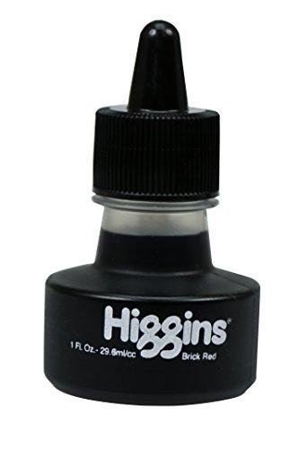 Higgins Dye-Based Drawing Ink, Brick Red, 1 Ounce Bottle (44114)