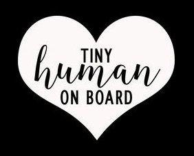 마카리오스 LLC 작은 인간의 보드에는 심장 재미있는 비닐 벽 스티커|자동차 트럭 밴 벽 노트북 MKR|백색|5.75X4.75 서|MKR021