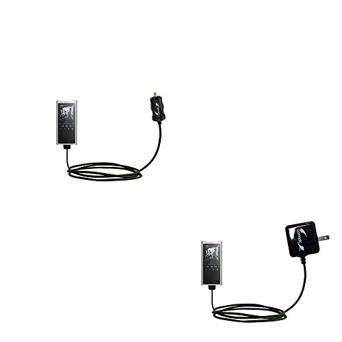 The Essential Gomadic Car and Wall Accessory Kit Designed for The Sony Walkman NW-ZX300-12v DC Car and AC Wall Charger Solutions with TipExchange