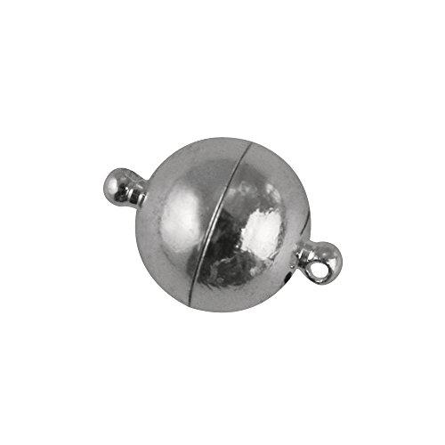 Rayher 2224362 Magnetschließe, extra stark, 14mm ø, echt versilbert