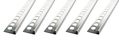 25 MEDIDOR – Altura: 12,5mm PREMIO perfil de baldosas cuadrados inox acero...