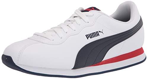 PUMA Turin II, Zapatillas Unisex Adulto, White Peacoat High Risk Rojo, 42.5/44.5 EU