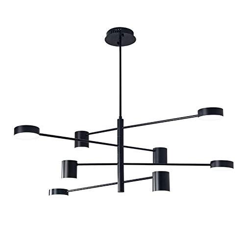 8 Lichter Lampe Sputnik Kronleuchter Wohnzimmer Lampe Kreative Postmoderne Esszimmer Schlafzimmer Arbeitszimmer Laden Ausstellungshalle Fenster Bar Lampe Körper 360 ° Dreifarbige Deckenleuchte