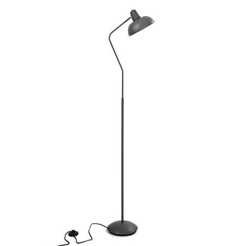 Versa 20840052 Lámpara de pie de Metal Gris, 150 x 22 x 29,5 cm