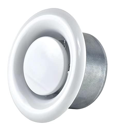 Válvula de disco redonda de 80 mm de diámetro de metal