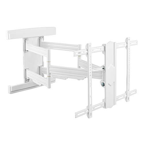 RICOO S7564-W TV Wandhalterung Schwenkbar Neigbar Universal 37-80 Zoll (94-203cm) Halterung Curved LCD LED Fernseher VESA 300x200-600x400 Weiß
