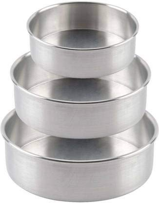 Royale Mesum Molde redondo para pasteles de molde redondo para hornear, latas y pasteles, 3 en 1 para medio kg, 750 gramos y 1 kg