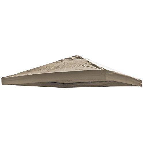 Universal Ersatz Dach für Pavillon 3x3 M Farbe Taupe Wasserdicht PVC beschichtet 220gr. Polyester mit Luftluke