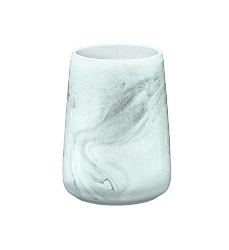 Kleine Wolke 5854901852 Verre à Dents Marble Anthracite, Pierre, 15 x 10 x 10 cm